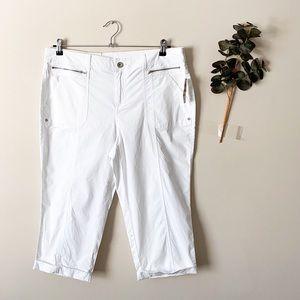 NWT Style & Co Bright White Capris Size 14